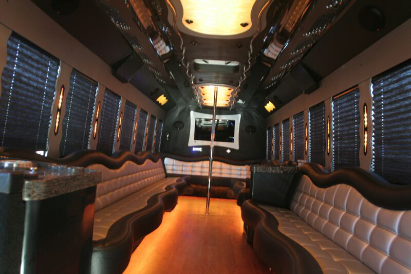 Party bus rentals dallas tx party buses for Texas leather interiors dallas