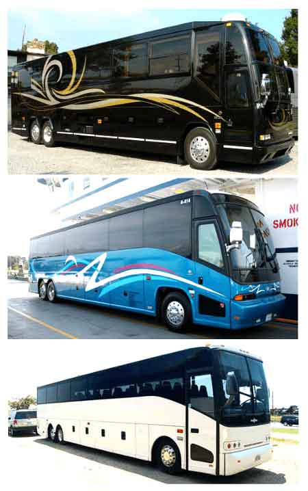 Charter Bus Farmers Branch TX